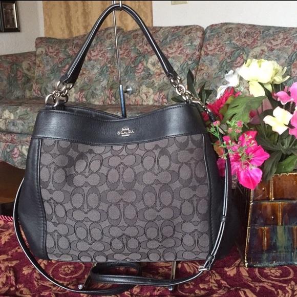 Coach Handbags - Coach  Lexy  signature Shoulder Bag